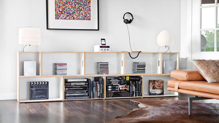 Decorar el hogar con estanter as de madera - Estanterias con cajas ...