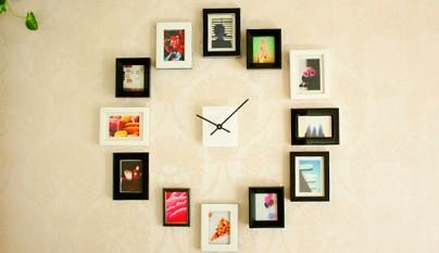 reloj con cuadros