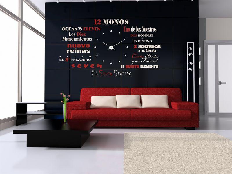 Vinilo decorativo para reloj de pared con nombre de peliculas - Vinilo de pared ...