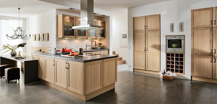 Cocinas de madera modernas - Madera de cocina ...
