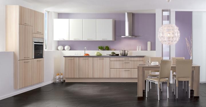 Cocinas modernas blancas y madera - Cocinas de madera modernas ...