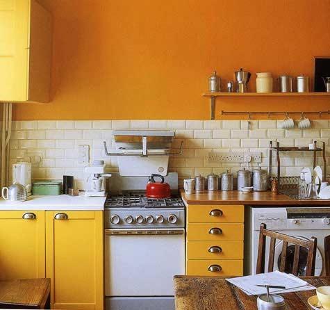 Cocinas peque as de varios colores for Colores de pared para cocina