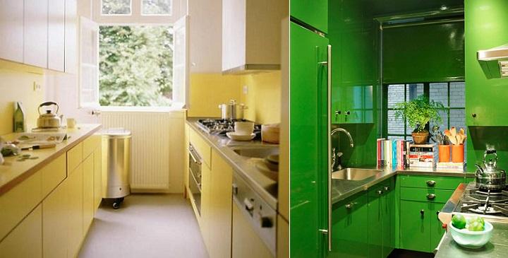 Cocinas pequenas de colores1