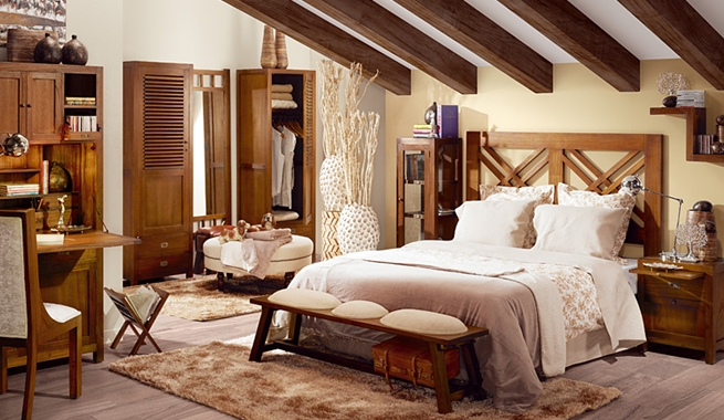 Fotos de casas de estilo r stico - Decoracion de habitaciones de matrimonio rusticas ...