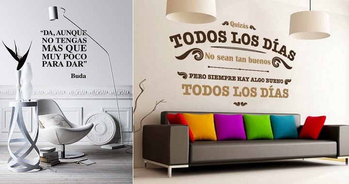 Decorar las paredes con frases for Como decorar una pared con pintura
