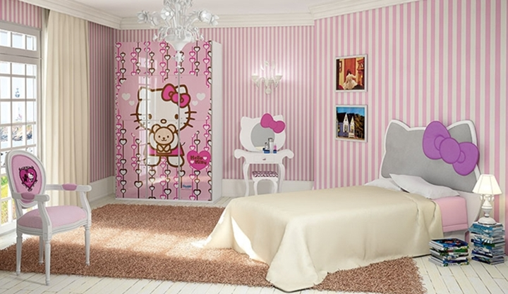 7 habitaciones de Hello Kitty