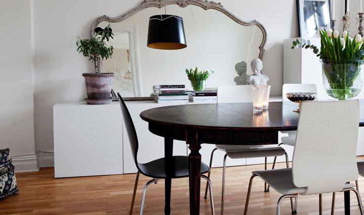 Consejos para decorar un comedor peque o for Espejos redondos pequenos