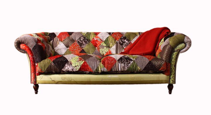 sofa de patchwork