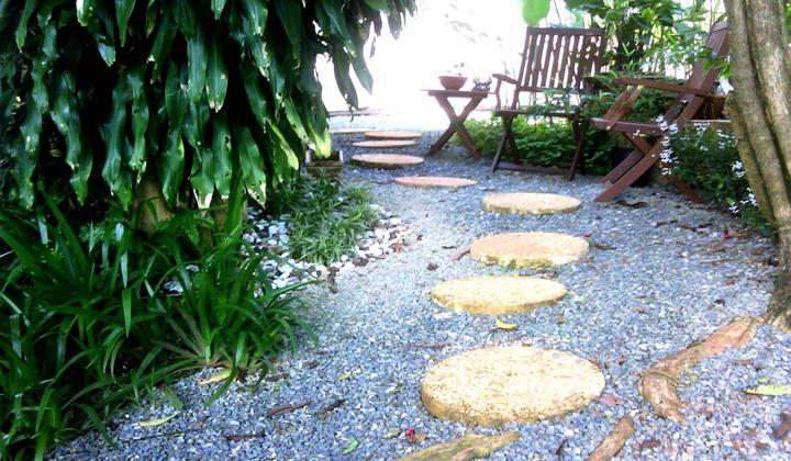 patio con jardin
