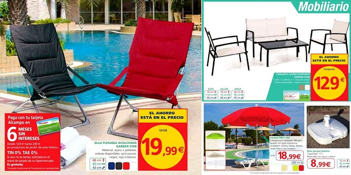 Alcampo cat logo de jard n 2014 for Piscinas desmontables baratas carrefour