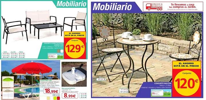 Alcampo cat logo de jard n 2014 for Muebles de terraza alcampo