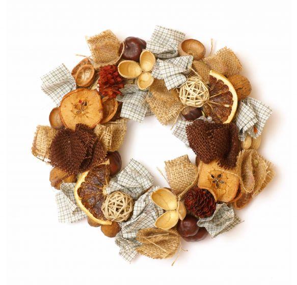 Reciclarte coronas navide as originales - Adornos para navidad con pinas ...