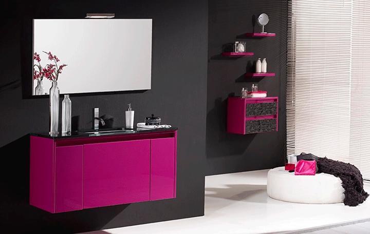 Azulejos Baño Fucsia:Muebles de baño modernos