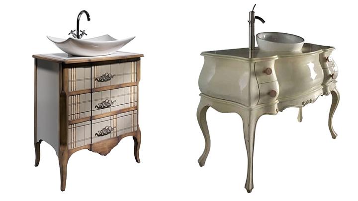 Muebles de ba o modernos for Muebles antiguos para banos