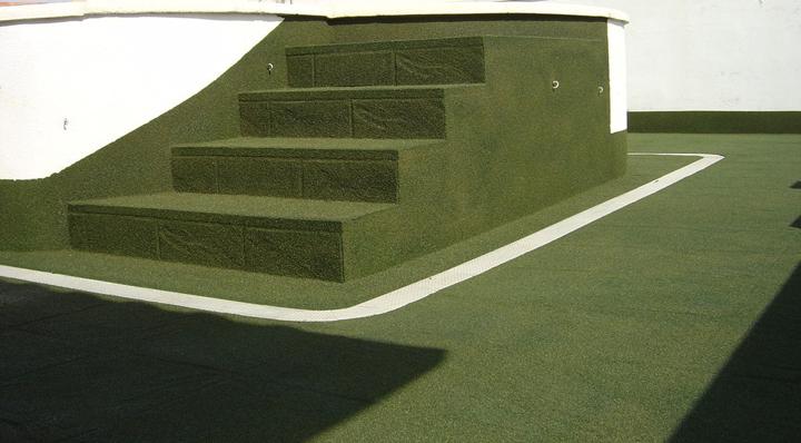corcho proyectado en la terraza