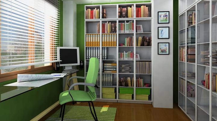 despacho de color verde