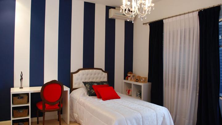dormitorio estilo navy
