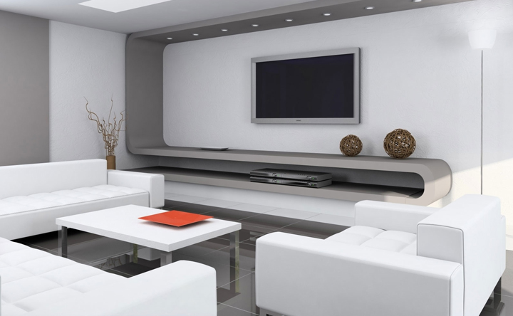 Decorar el hogar con muebles de color blanco for Color de pared para muebles blancos