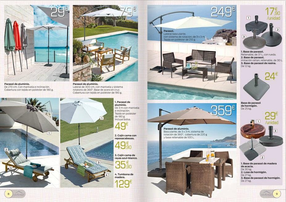 Iluminacion Baño Hipercor:Catálogo Hipercor 2014: muebles para el jardín y la terraza (5/13)