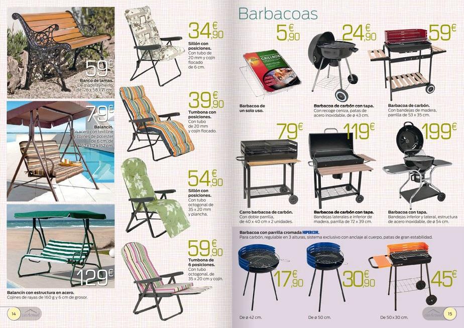 Iluminacion Baño Hipercor:Catálogo Hipercor 2014: muebles para el jardín y la terraza (8/13)