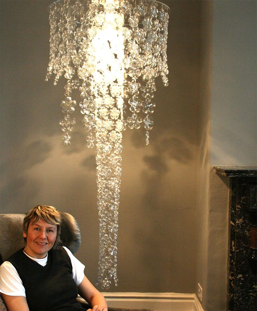 Plastic Bottle Chandelier 3