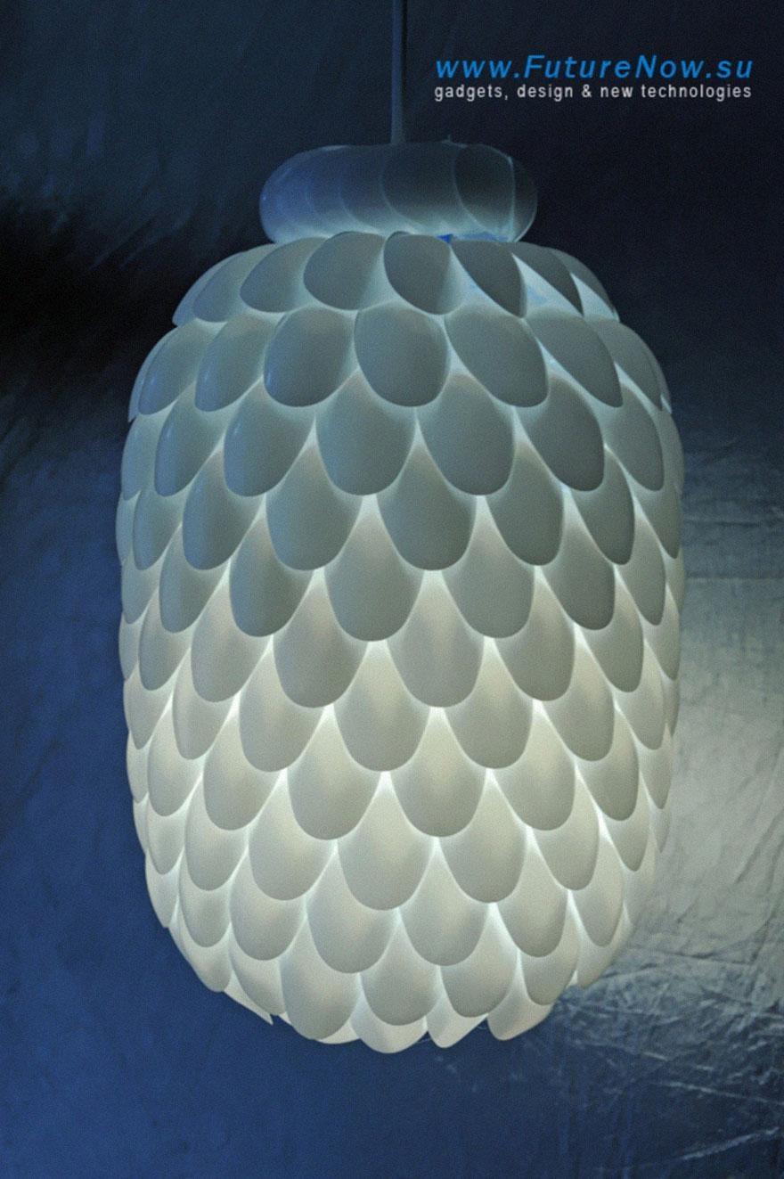 Plastic Spoon Lamp 3