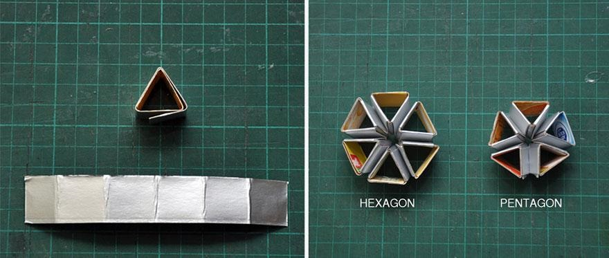 L mparas originales hechas con material reciclado for Plafones pared originales