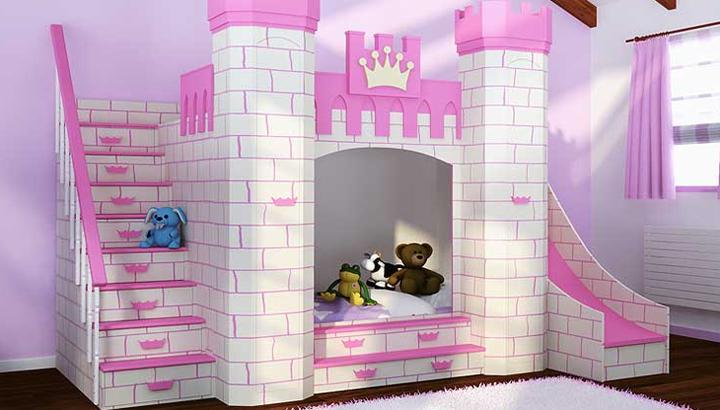 Habitaciones infantiles tem ticas - Habitacion rosa palo ...
