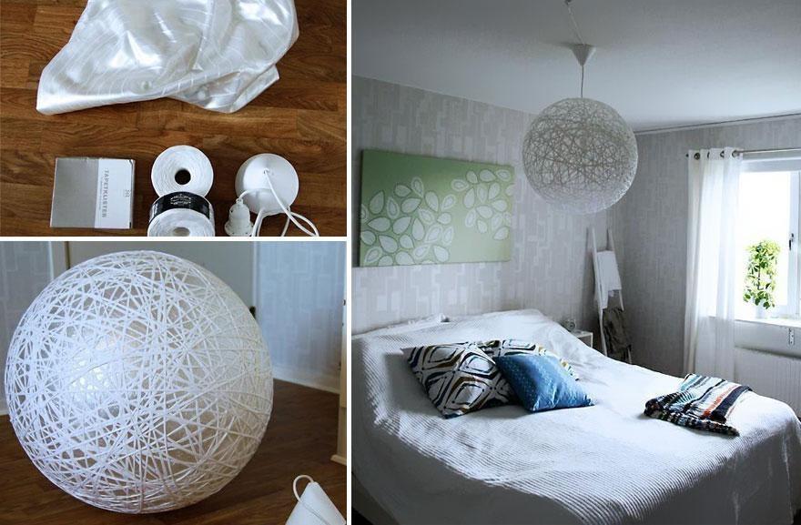 L mparas originales hechas con material reciclado - Lampara para dormitorio moderno ...