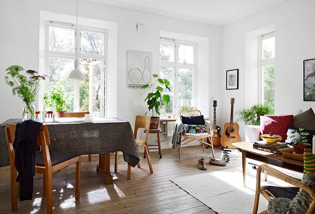 Fotos de casas de estilo n rdico - Plantas para salon ...