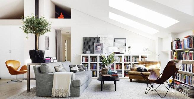 Fotos de casas de estilo n rdico - Salones estilo nordico ...