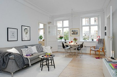 Fotos de casas de estilo n rdico for Salones modernos estilo nordico