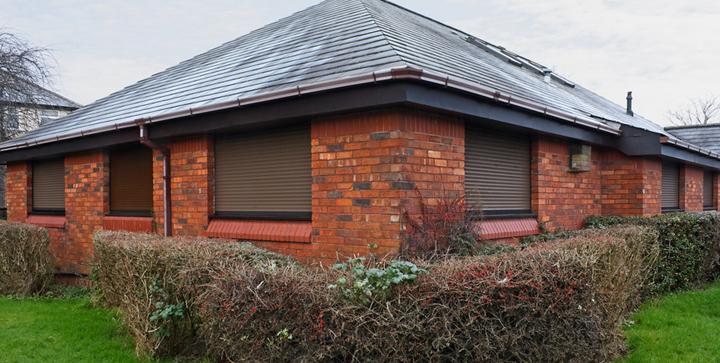 casa con persianas