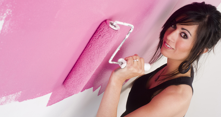 pintar pared de rosa