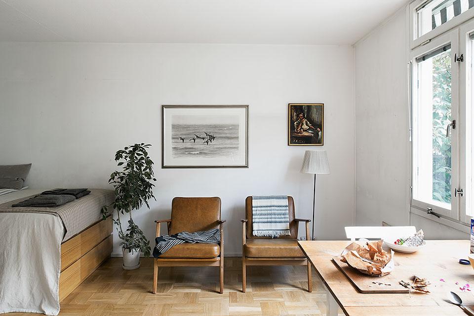 Estudio de 24 metros cuadrados en suecia for Vivir en 40 metros cuadrados