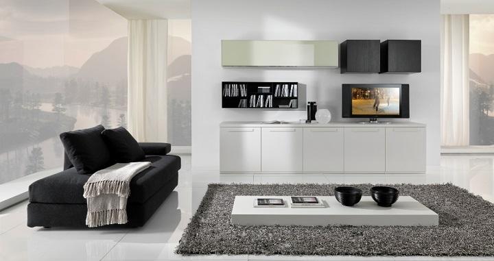 Fotos de salones minimalistas for Salon comedor minimalista