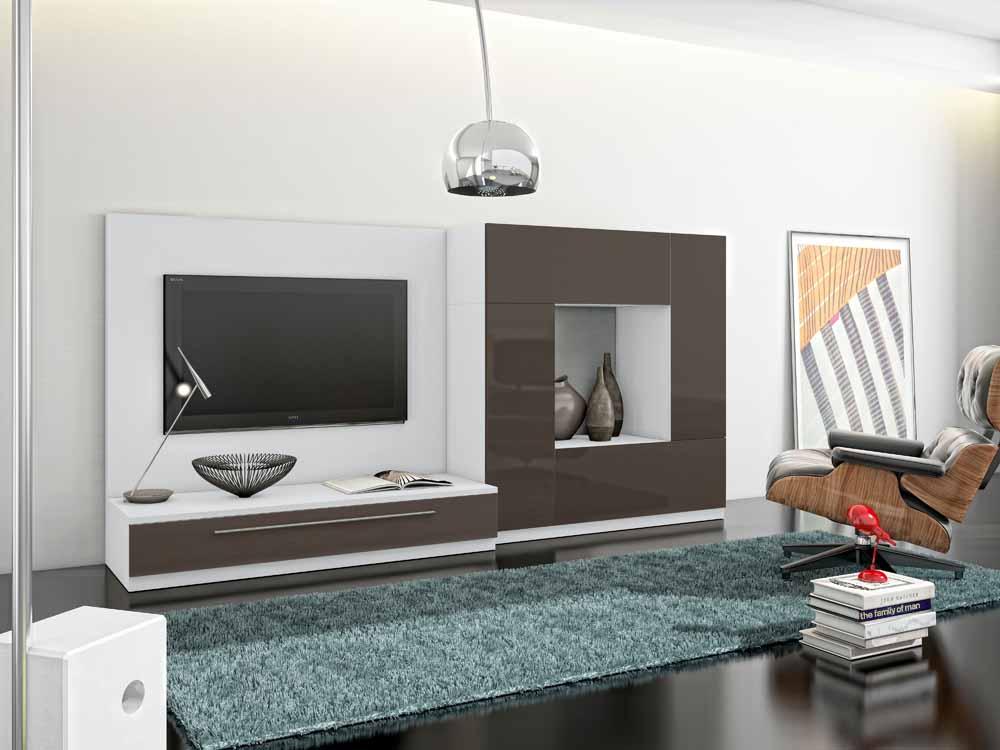 Muebles de entretenimiento para sala minimalista for Muebles de salon minimalistas