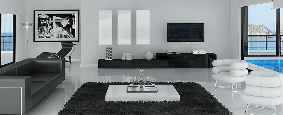 Fotos de salones minimalistas for Salones modernos blancos
