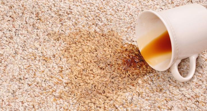alfombra manchada