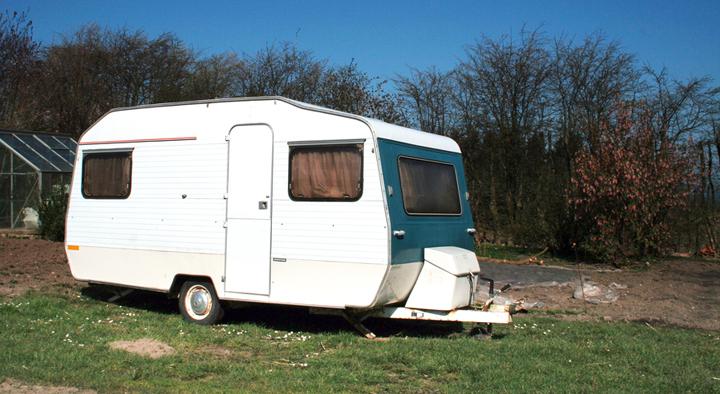 exterior de una caravana