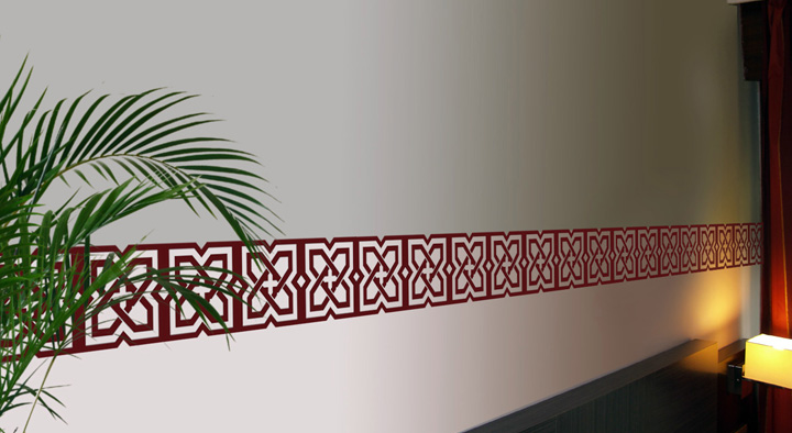 Decoraci n con cenefas for Cenefas infantiles pared