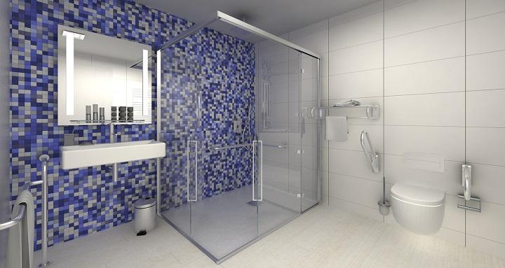Diseno Baño Discapacitados:Duchas para minusválidos