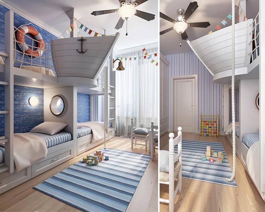 Habitaciones infantiles muy especiales - Habitaciones infantiles marineras ...