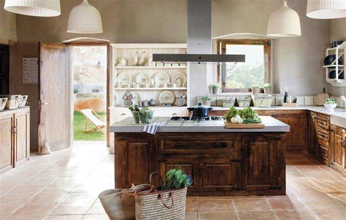 Muebles de cocina madera rustica: addbbf e efadc g.