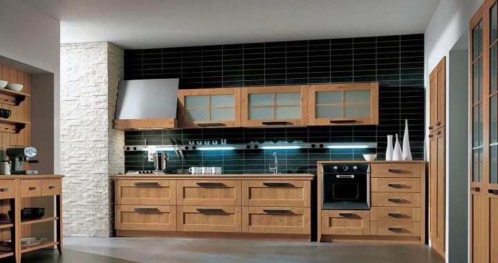 Fotos de cocinas de madera for Cocinas integrales de madera con isla