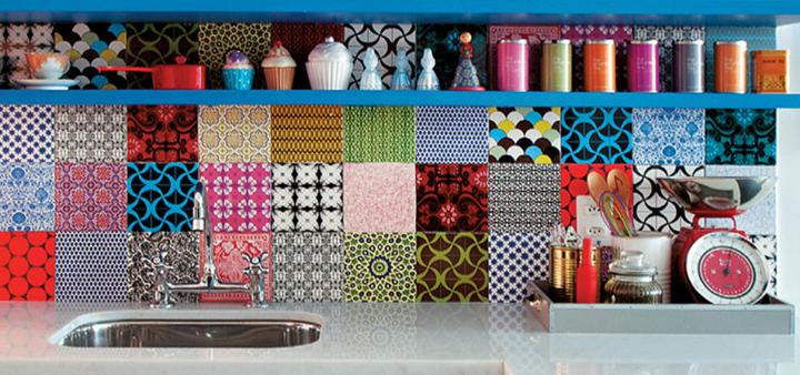 Azulejos de colores para la cocina