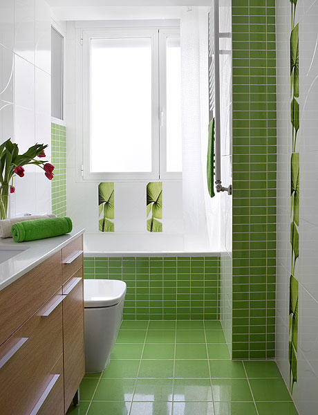 Baño Color Verde Agua:Fotos De Banos Decorados