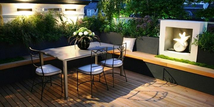 C mo decorar una terraza peque a for Muebles terraza pequena