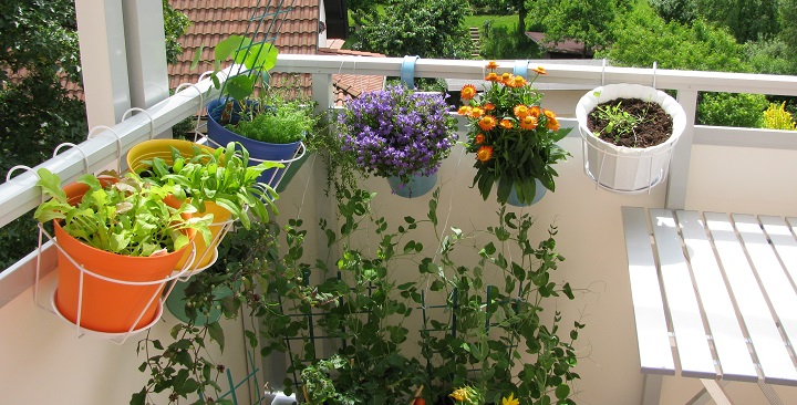 C mo decorar una terraza peque a - Maceteros para terrazas ...