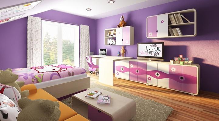 Dormitorios infantiles coloridos